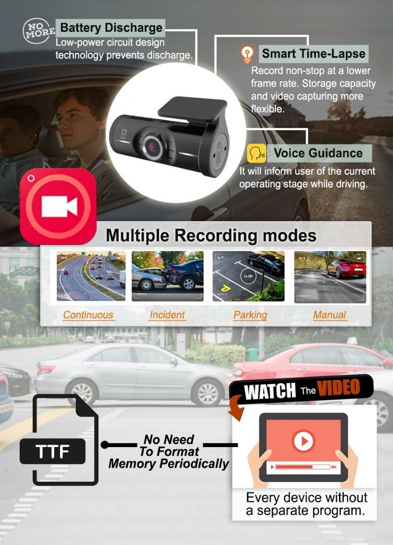 Promotion! Nefu Plabo 2 channel in-car dashcam, blackbox camera