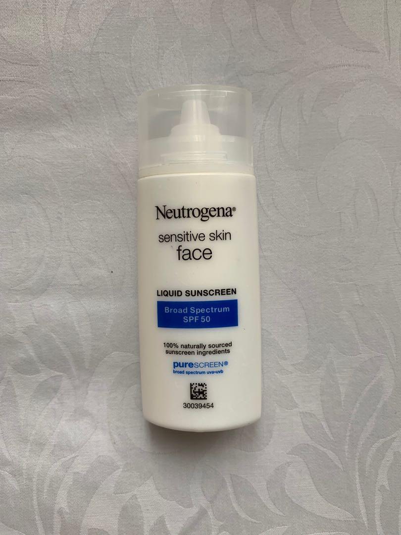 Neutrogena sensitive skin face liquid sunscreen broad spectrum spf 50