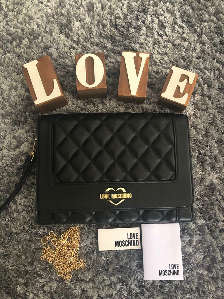 New Moschino Clutch with long chain