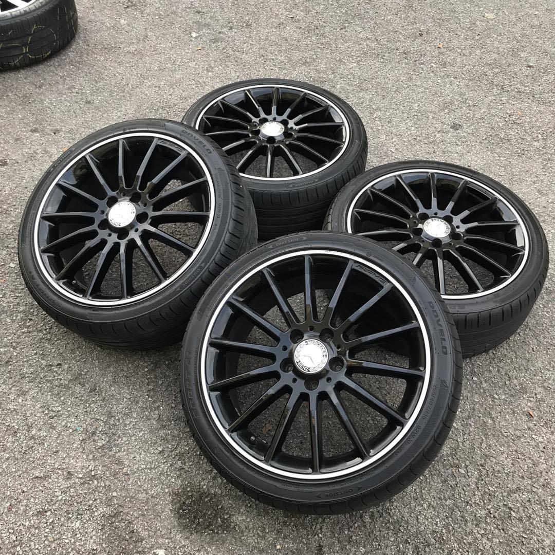 original sports rim mercedes AMG cla 250 tyre 90%