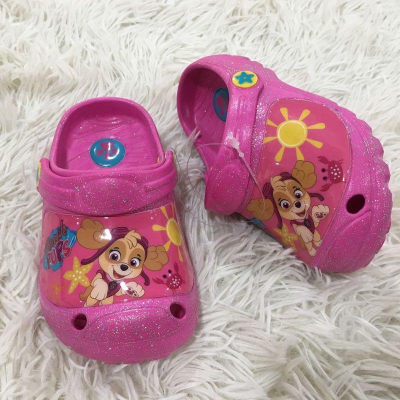 Paw patrol Skye crocs slippers, Babies