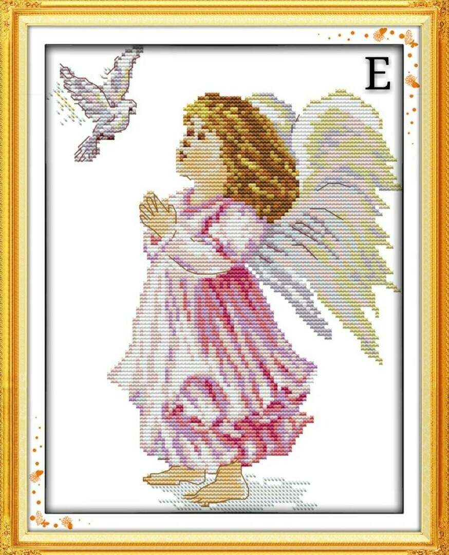 ✨PM for price✨  🍀Angel Series DMC Cross Stitch Needlework Embroidery Kit🍀