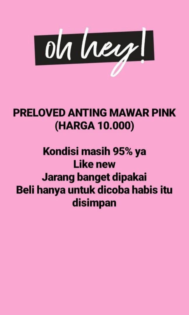PRELOVED ANTING MAWAR PINK