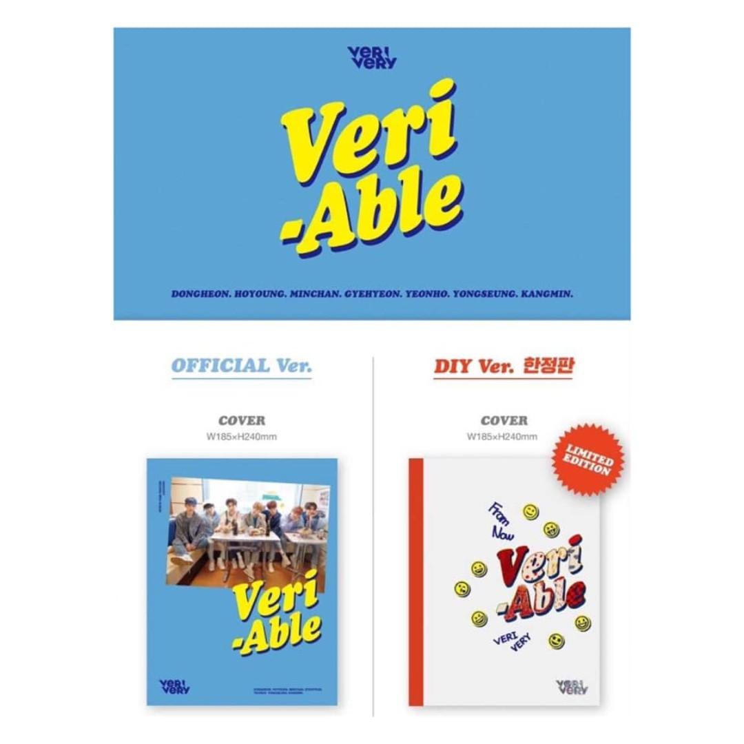 [Pre-order] VERIVERY 베리베리 (2ND MINI ALBUM 미니앨범) - VERI-ABLE (OFFICIAL ver. || DIY LIMITED EDITION)