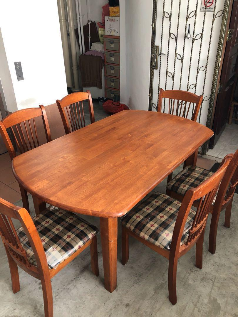300 6 Seater Dining Table Set