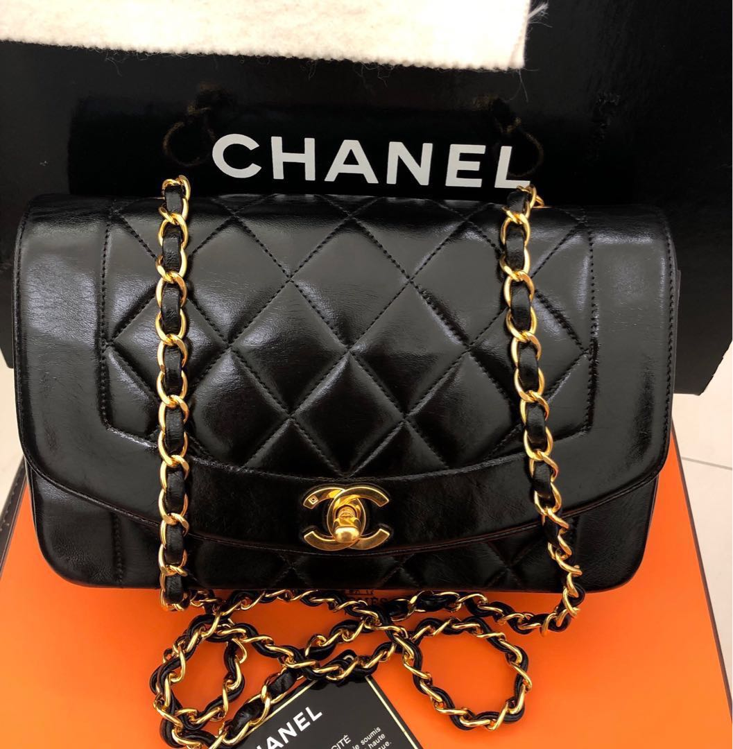 53b42a43ad71df Reserved)Authentic Chanel Diana small vintage, Luxury, Bags ...
