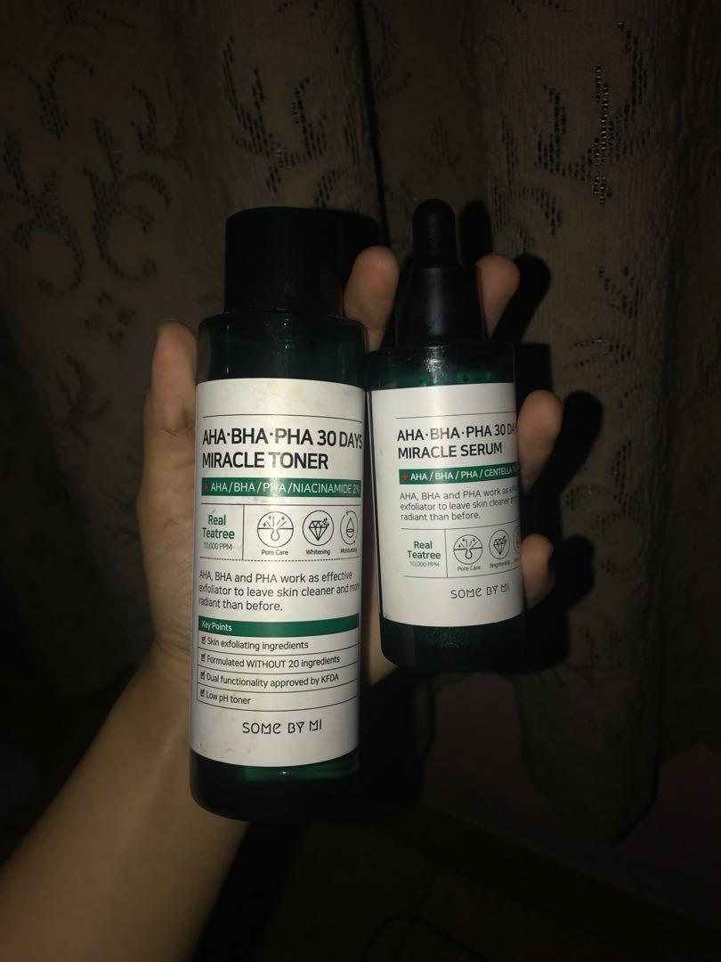 Some By Mi Miracle Toner and serum