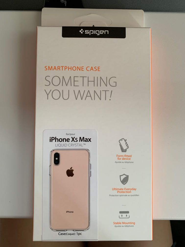 coque iphone xs max spigen liquid crystal