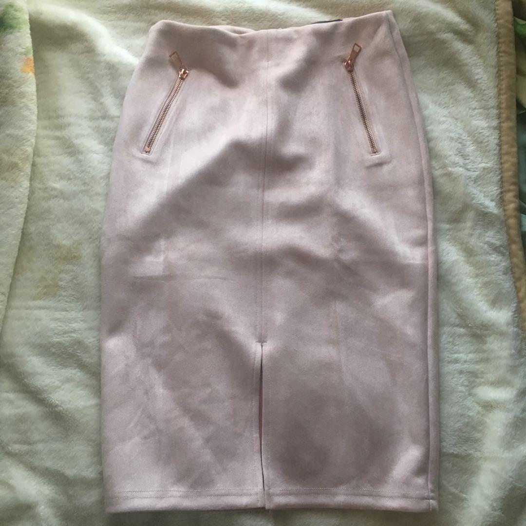 TEMT soft suede skirt