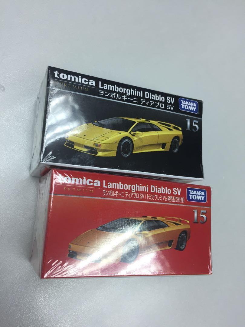 Tomica Premium 15 Lamborghini Diablo Sv 普通 初回一對 林寶堅尼