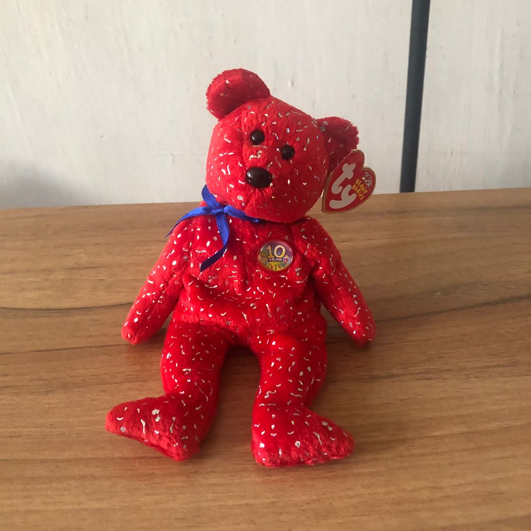 7669a9b15eff4a Ty beanie Babies Decade Red, Toys & Games, Stuffed Toys on Carousell