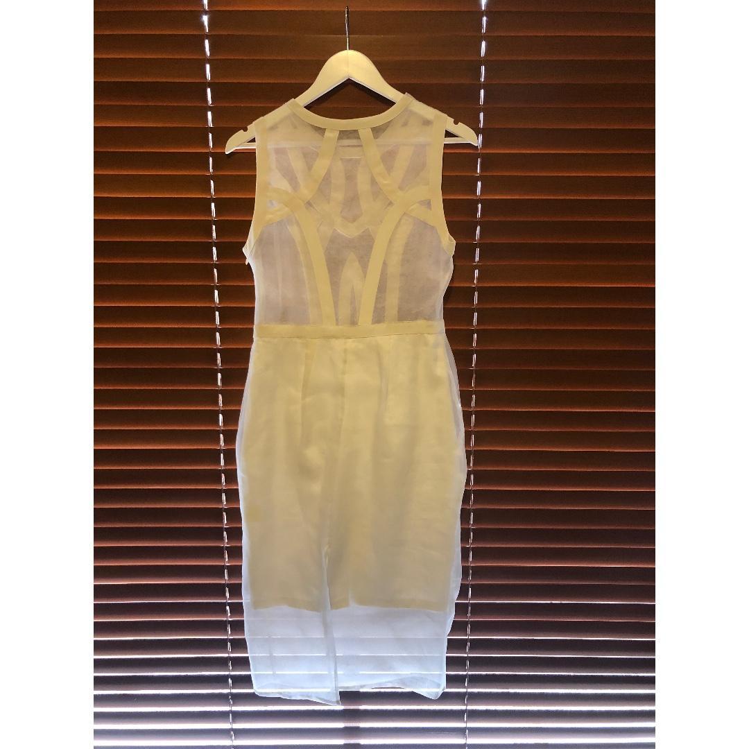 Vintage Thurley Dress - Brand New - Ivory Organza - Designer
