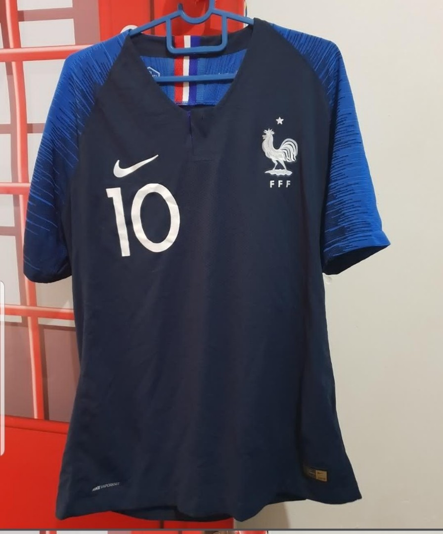 512c3f119 World Cup 2018 France Home Jersey Customised (Authentic) no.10 ...