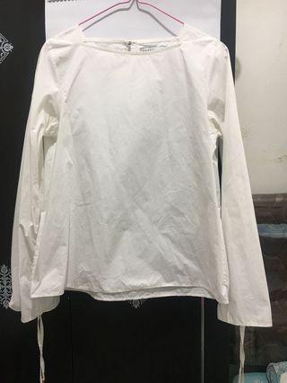 Cottonink White Blouse with Long Sleeves