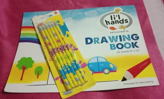 Arts and Crafts Drawing Book & Pencil Bundle