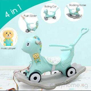 FREE DELIVERY 4 in 1 Push Rocking Horse