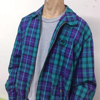 Vintage LaCoste Plaid Jacket 90s 復古 外套 古著 鱷魚牌 格仔