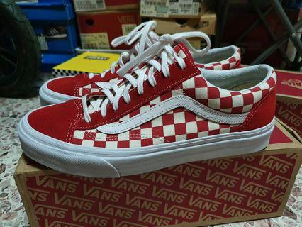 515aec783a Vans Style 36 Checkerboard Red
