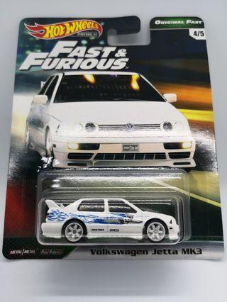 "Hot Wheels Original Fast ""Fast & Furious"" Volkswagen Jetta MK3"