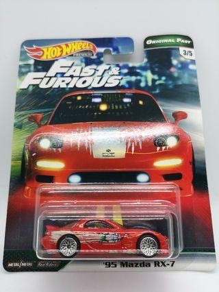 "Hot Wheels Original Fast ""Fast & Furious"" '95 Mazda RX-7"