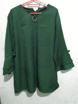 Green Blouse kerja