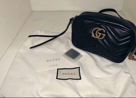 Gucci marmont mini黑色相機包