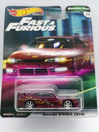 "Hot Wheels Original Fast ""Fast & Furious"" Nissan 240SX (S14)"