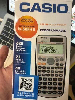 Casio fx-50FH II Dse 備用機數學計算機計數機