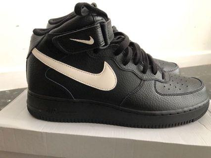 outlet store 75ca1 89fa4 Nike Air Force 1 Mid 07 Black Sail