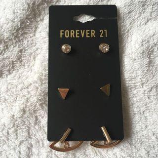 Forever 21 簡約耳環套裝(3 pairs)