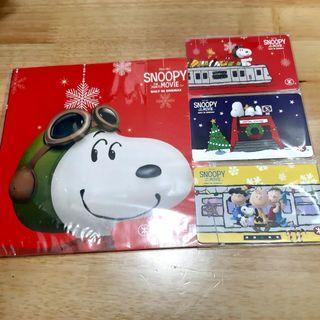 港鐵 MTR Snoopy The Peanuts Movie 紀念車票 1套3張 (連套摺)