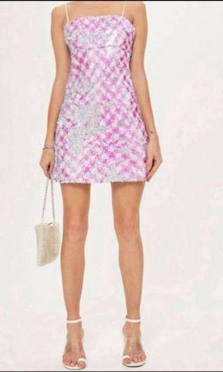 Topshop pink sequins dress (new with tag)