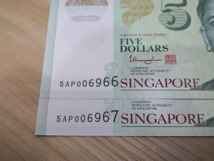 $5 dollars with 4 Digit nice number