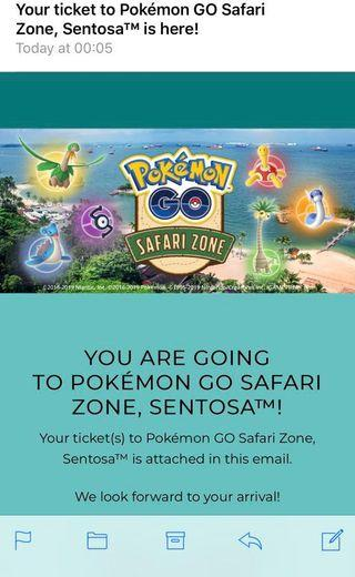 🚚 Pokemon go safari zone tickets