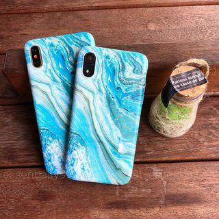 Blue Marble Art Prints Matte Soft Phone Case