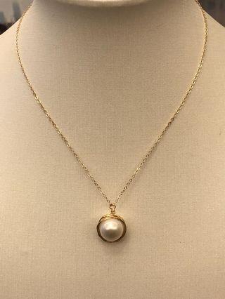 珍珠頸鏈14k gold