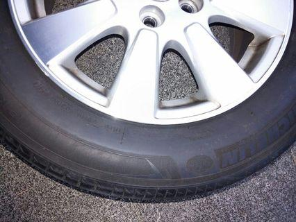 "Alphard used 16"" tire and rim 80% new"