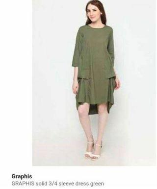 Dress graphis  army green