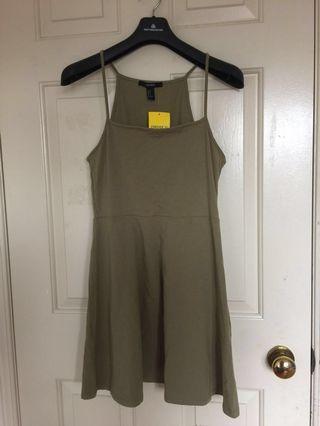 BN Forever21 Olive Skater Dress - Medium