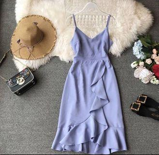 Brand new trendy formal smart casual work dress in sky blue
