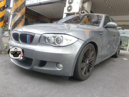 售2008年出場09掛牌BMW 120d sport 灰色黑內裝 2000cc  柴油