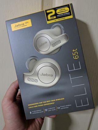 BNIB sealed local set Jabra Elite 65t True Wireless Earbuds - Beige Gold - 2 year 1-to-1 exchange warranty