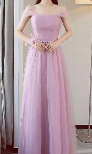 Bridesmaid Dress, nightdress , graduation dinner dress, pink color 姊妹裙,謝師宴裙,晚裝豆沙色