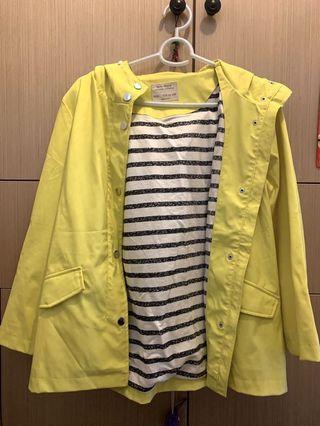 Zara Girls Outerwear 雨褸 防水褸 黃色 Yellow Raincoat