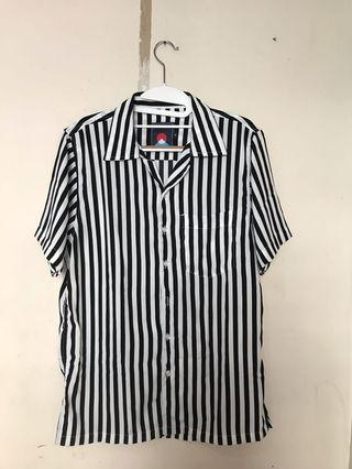 Black White Stripes Shirt