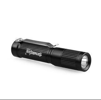 Super Bright Ultra Compact XPE LED Flashlight. Using 1 Single AAA battery.