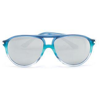 #正價6折*VIA EYEWEAR 漸變藍綠色鏡框太陽眼鏡連透明盒 原價$950