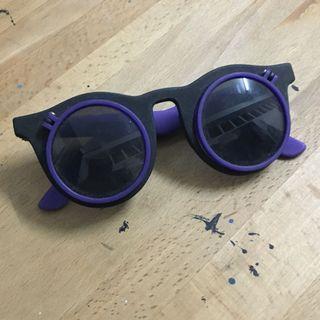 膠圓框太陽眼鏡
