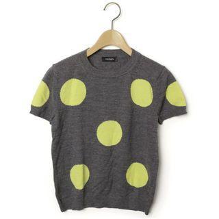 Max & Co 灰X黃色波點針織上衣