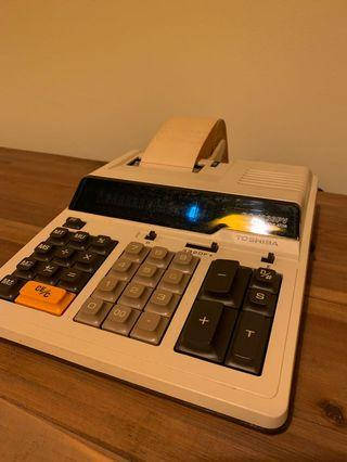 Printing calculator - near mint condition at least 40yrs old